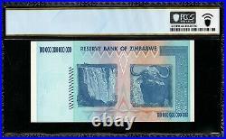 Zimbabwe Reserve/Bank 100 Trillion Dollars PCGS 66 PPQ 2008 AA P-91 Gem New UNC
