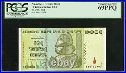 Zimbabwe Reserve Bank $10 Trillion Dollars 2008 P-88 PCGS 69PPQ Superb Gem New